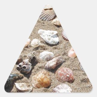 Seeoberteile Dreieckige Aufkleber