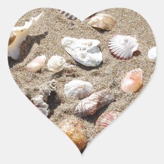 Seeoberteile Herz-Aufkleber