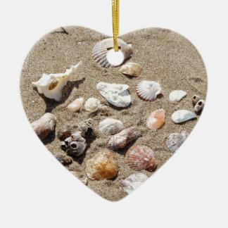 Seeoberteile Keramik Herz-Ornament