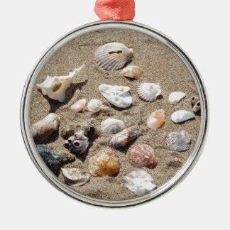 Seeoberteile Rundes Silberfarbenes Ornament