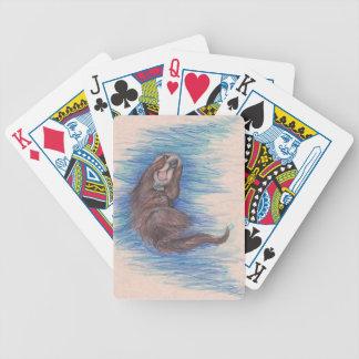 Seeotter-kleines wildes Tier-Lebewesen niedlich Bicycle Spielkarten