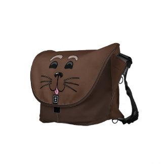 Seeotter - niedliche Cartoon-Bote-Tasche Kurier Tasche