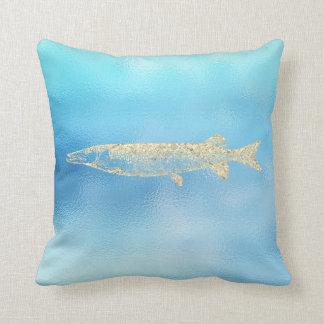 Seeozean-Aqua-Türkis-Tiffany-Gold Pikefish Kissen