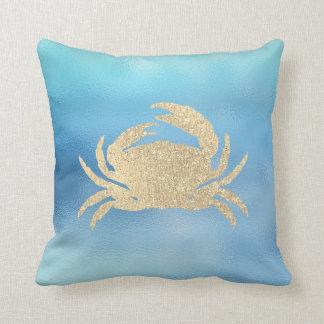 Seeozean-Blau-Aqua Ombre Tiffany goldenes Kissen