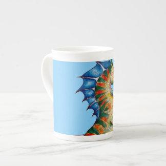 Seepferd auf Blau Porzellantasse