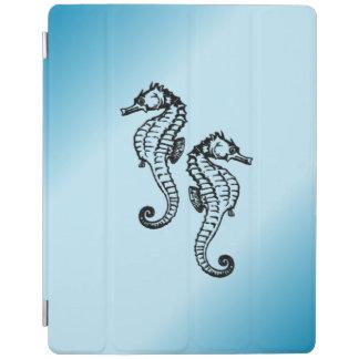 Seepferd-Blau iPad Hülle