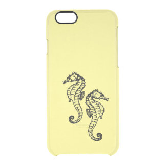 Seepferd-Gelb Durchsichtige iPhone 6/6S Hülle