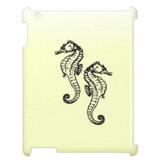Seepferd-Gelb iPad Hülle