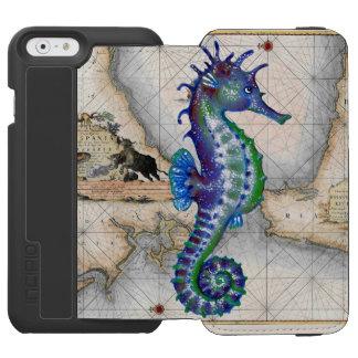 Seepferd-Karte Gibraltar Incipio Watson™ iPhone 6 Geldbörsen Hülle
