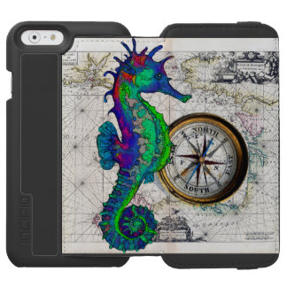 Seepferd-Kompass Incipio Watson™ iPhone 6 Geldbörsen Hülle