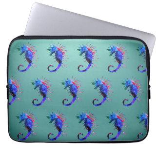 """Seepferd-Kunst-Neopren-Laptop-Hülse 13"""" Laptop Sleeve"""