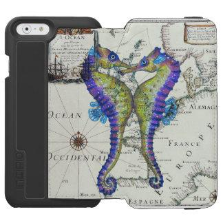 Seepferd-Liebe-Karte Incipio Watson™ iPhone 6 Geldbörsen Hülle