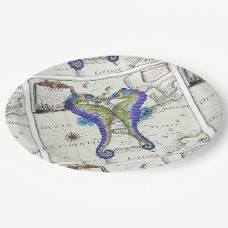 Seepferd-Liebe-Karte Pappteller