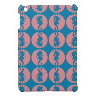 Seepferd-Muster in der Melone und in dunklem aquam iPad Mini Hülle