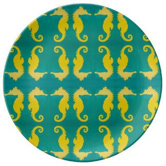 Seepferd-Platte Porzellanteller