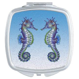 Seepferdblautropfen Taschenspiegel