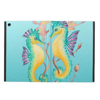 Seepferde aquamarine stainglass