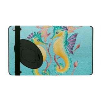 Seepferde aquamarine stainglass iPad hülle