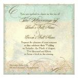 Seepferdeküstenstrand - Hochzeits-Einladung