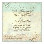 Seepferdeküstenstrand - Hochzeits-Einladung Quadratische 13,3 Cm Einladungskarte