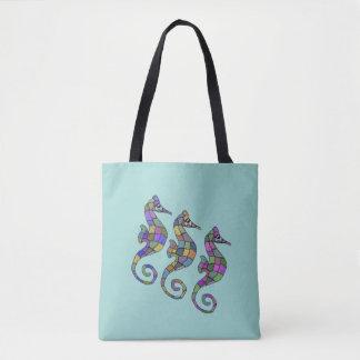 Seepferderegenbogen Tasche