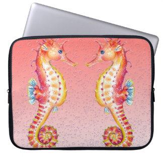 Seepferdrotblasen Laptopschutzhülle