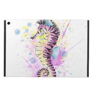 SeepferdZebrawatercolor-Tinten-Spritzen