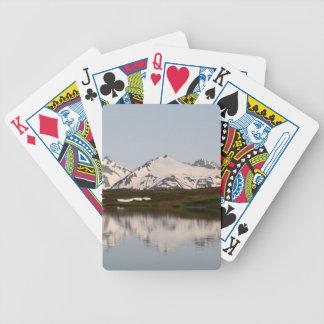 Seereflexionen der Berge, Alaska Bicycle Spielkarten