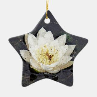 Seerose Keramik Stern-Ornament