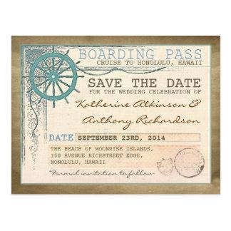 SeeSave the Date Boardingdurchlaufpostkarten Postkarte