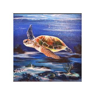 """Seeschildkröte 10"""" x 10"""" Leinwand-Druck Leinwanddruck"""