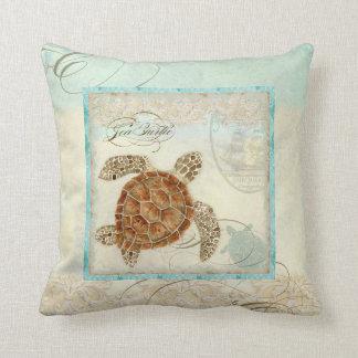 Seeschildkröte-Küstenstrand - Zierkissen