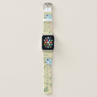 Seeschildkröte-TAN-Karte Vintag Apple Watch Armband