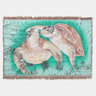 Seeschildkröten aquamarin decke