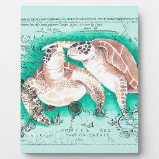 Seeschildkröten aquamarin fotoplatte