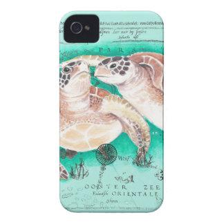 Seeschildkröten aquamarin iPhone 4 hülle