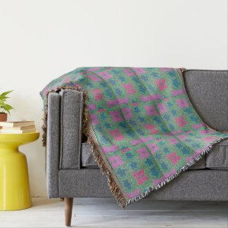 Seeschildkröteund -Blumetropische Throw-Decke Decke