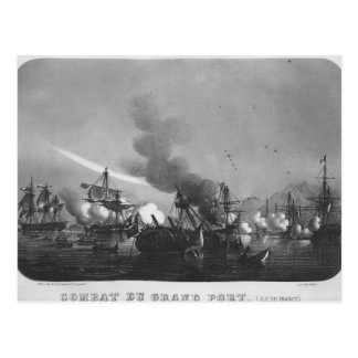 Seeschlacht des großartigen Hafens, Mauritius, im Postkarte