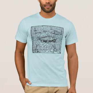 Seeschlangen und Walfang-Schiffe T-Shirt