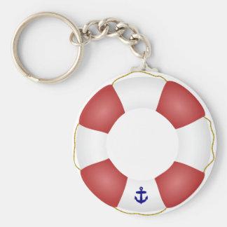 Seeschwimmweste Standard Runder Schlüsselanhänger