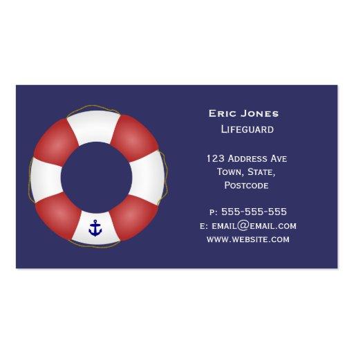 Seeschwimmweste Visitenkarten