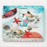 Seeseashells-Ankerstarfish-Strand-Thema Mousepads