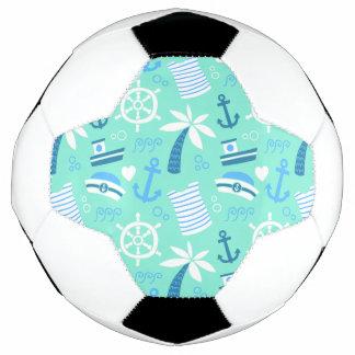 Seeseemannmuster der frischen Minze Fußball