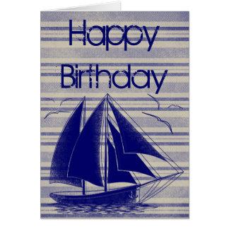 SeeSegelboot alles Gute zum Geburtstag Grußkarte