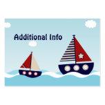 SeeSegelboot-zusätzliche Info-Einsatz-Karte Jumbo-Visitenkarten