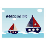 SeeSegelboot-zusätzliche Info-Einsatz-Karte Visitenkartenvorlage