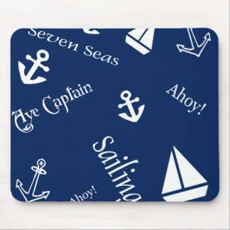 Seesegeln-Thema Mousepads