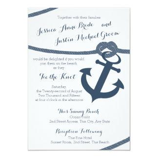 Seeseil-und Anker-Hochzeit 12,7 X 17,8 Cm Einladungskarte