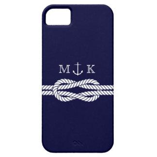 Seeseil und Anker-Monogramm in der Marine Schutzhülle Fürs iPhone 5