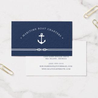 Seeseil und Anker Visitenkarte